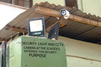 Security Light and CCTV